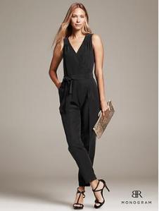 BR Monogram Belted Jumpsuit - Black